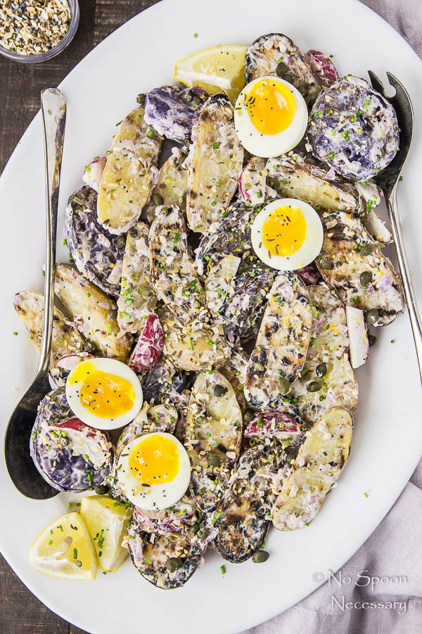 Everything Bagel Seasoned Potato Salad with 7 Minute Eggs-155