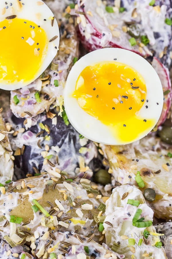 Everything Bagel Seasoned Grilled Potato Salad with 7 Minute Eggs-8