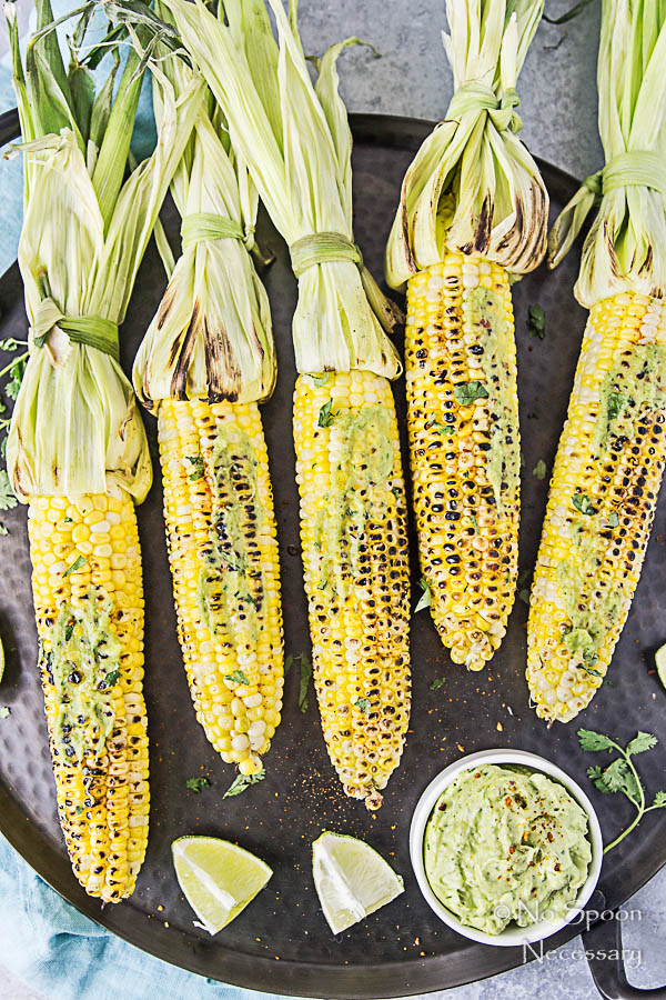 Grilled Corn on the Cobb with Avocado-Sriracha Butter-147