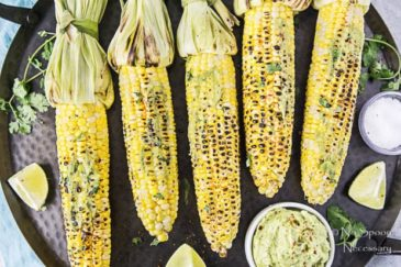 Grilled Corn with Avocado-Sriracha Butter