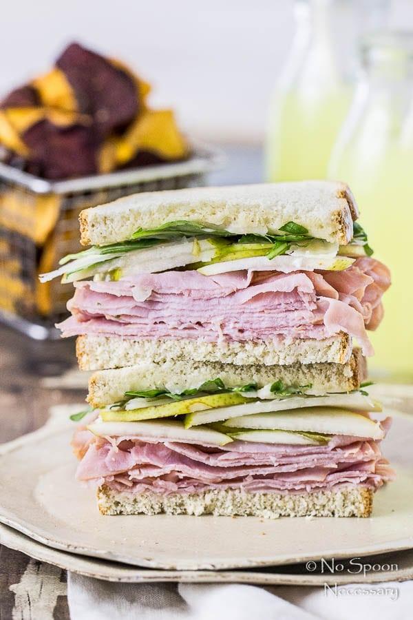 Ham & Pear Sandwich with Arugula & Manchego-149