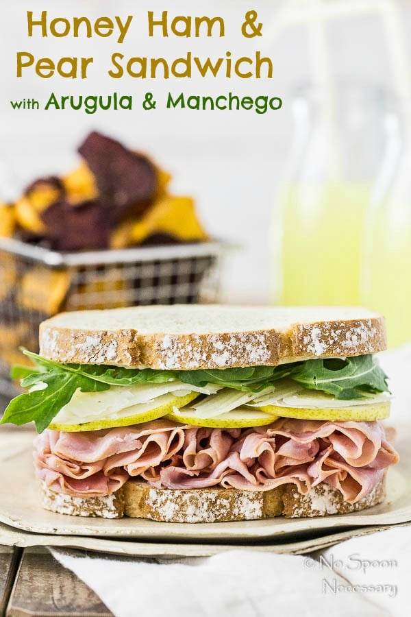 Ham & Pear Sandwich {with Arugula & Manchego} - No Spoon Necessary