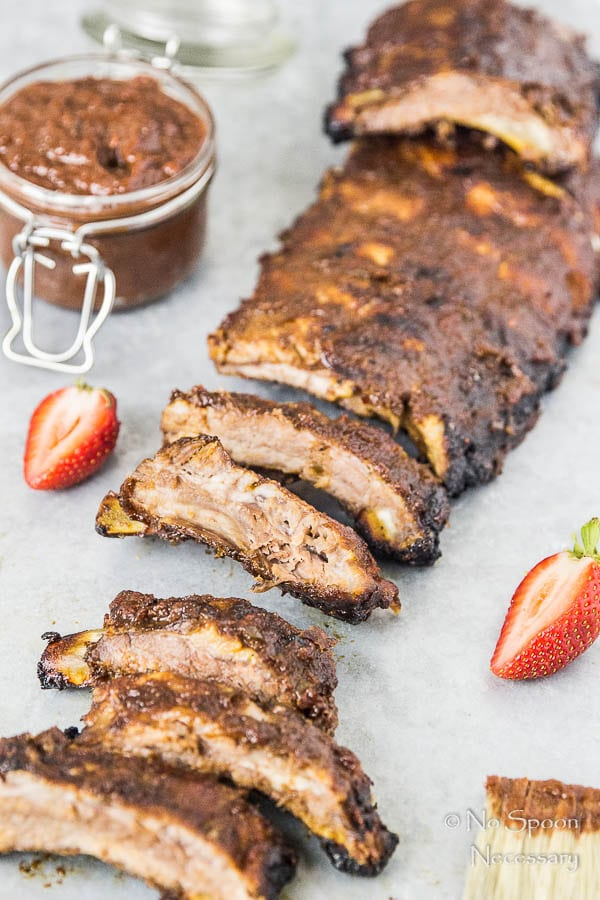 Jalapeno & Roasted Strawberry BBQ Sauce Baby Back Ribs-166