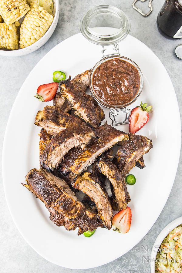 Jalapeno & Roasted Strawberry BBQ Sauce Baby Back Ribs-182