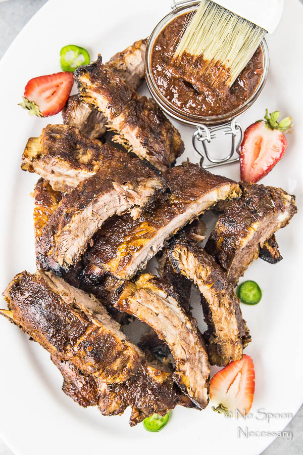 Jalapeno & Roasted Strawberry BBQ Sauce Baby Back Ribs-193