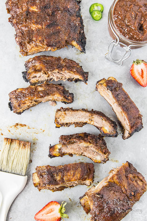 Jalapeno & Roasted Strawberry BBQ Sauce Baby Back Ribs-94