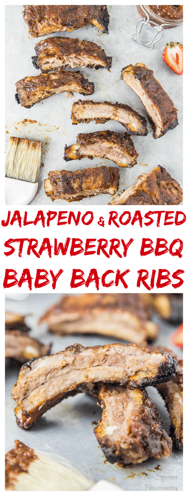 Jalapeno & Roasted Strawberry BBQ Sauce Baby Back Ribs-long pin4