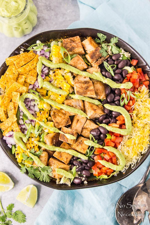 Southwestern Honey BBQ Chicken Quinoa Salad-127