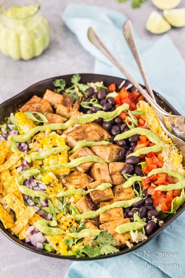 Southwestern Honey BBQ Chicken Quinoa Salad-156