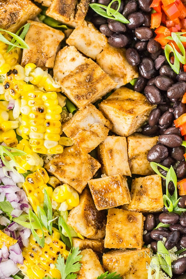 Southwestern Honey BBQ Chicken Quinoa Salad-88
