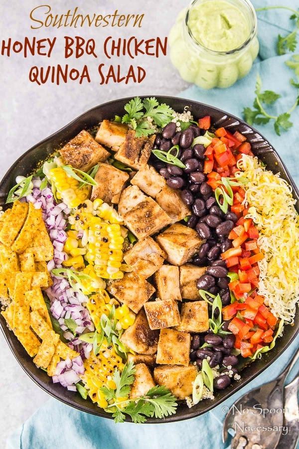 Southwestern Honey BBQ Chicken Quinoa Salad-short pin4