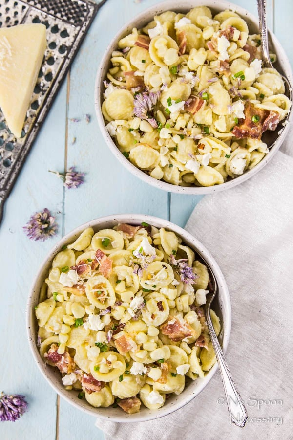 Brown Butter Orecchiette with Bacon, Corn & Goat Cheese-174
