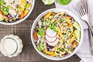 Thai Cashew & Mango Slaw Salad