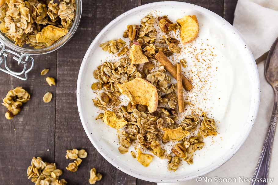 Cinnamon Apple Pie Granola [with recipe video]