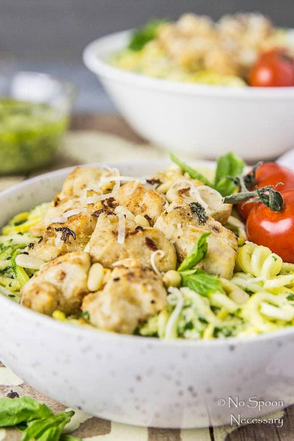 Basil Garlic Chicken & Summer Squash Noodles with Pesto-138