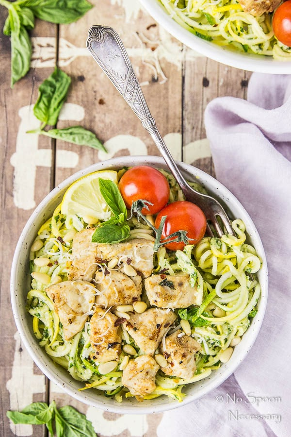 Garlic-Basil Chicken & Summer Squash Noodles with Pesto-216