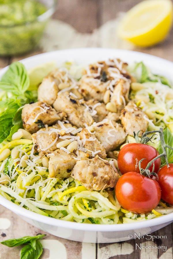 Basil Garlic Chicken & Summer Squash Noodles with Pesto-81