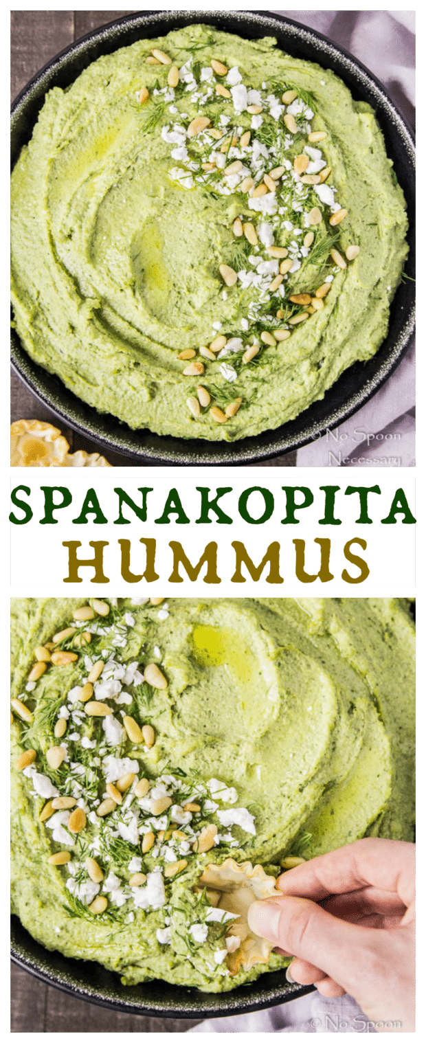 Spanakopita Flavored Hummus-long pin3