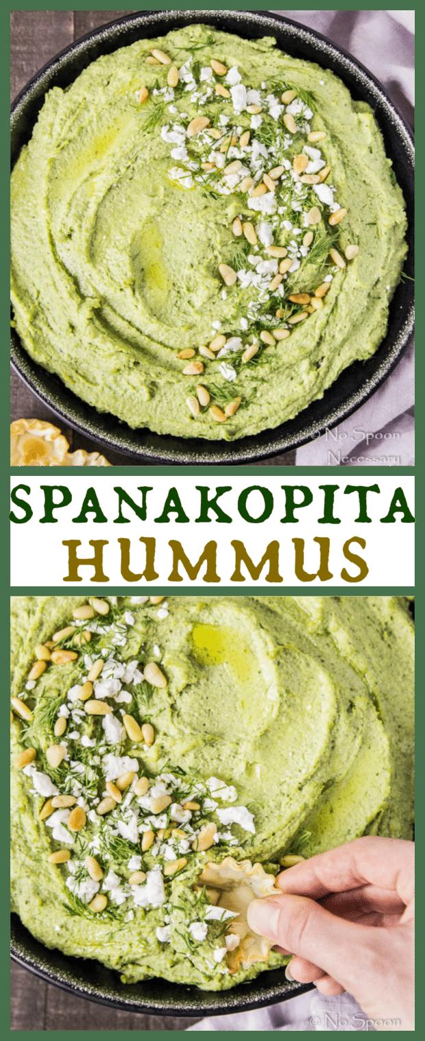 Spanakopita Flavored Hummus-long pin3