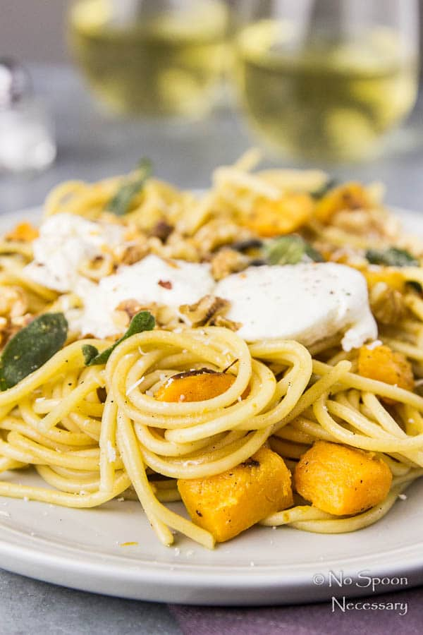 Butternut Squash Pasta with Ricotta & Sage Brown Butter
