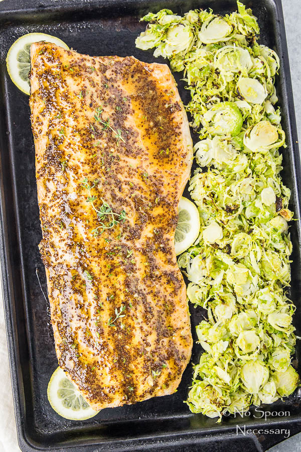 sheet-pan-dijon-honey-glazed-salmon-with-shredded-brussels-sprouts-14