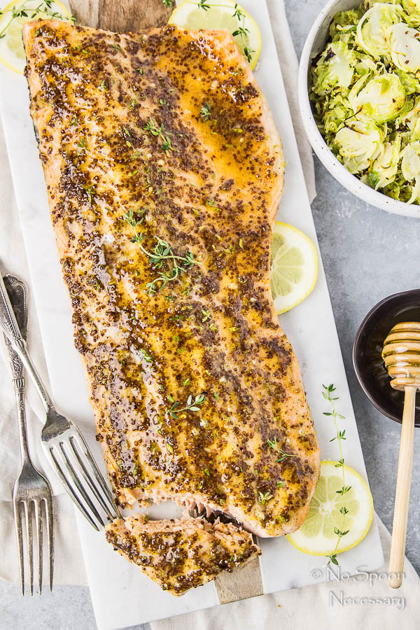 sheet-pan-dijon-honey-glazed-salmon-with-shredded-brussels-sprouts-83