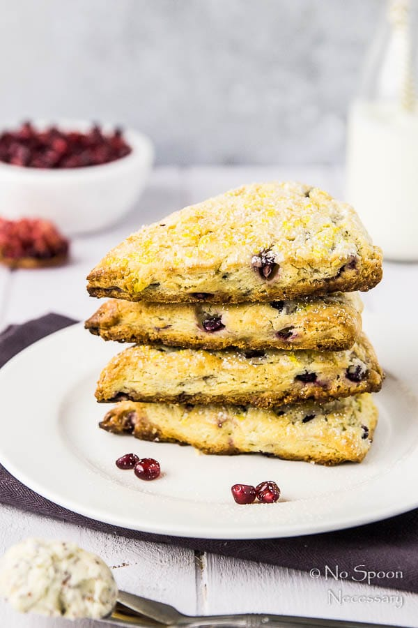 Cranberry & Pomegranate Tea Scones with Cranberry Vanilla Butter
