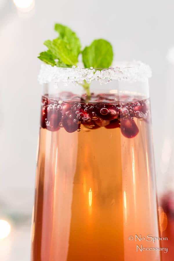 Orange & Pomegranate Prosecco Holiday Cocktail