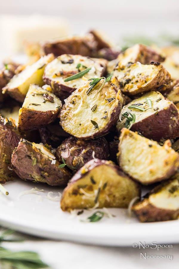Asiago, Garlic & Herb Roasted Red Potatoes