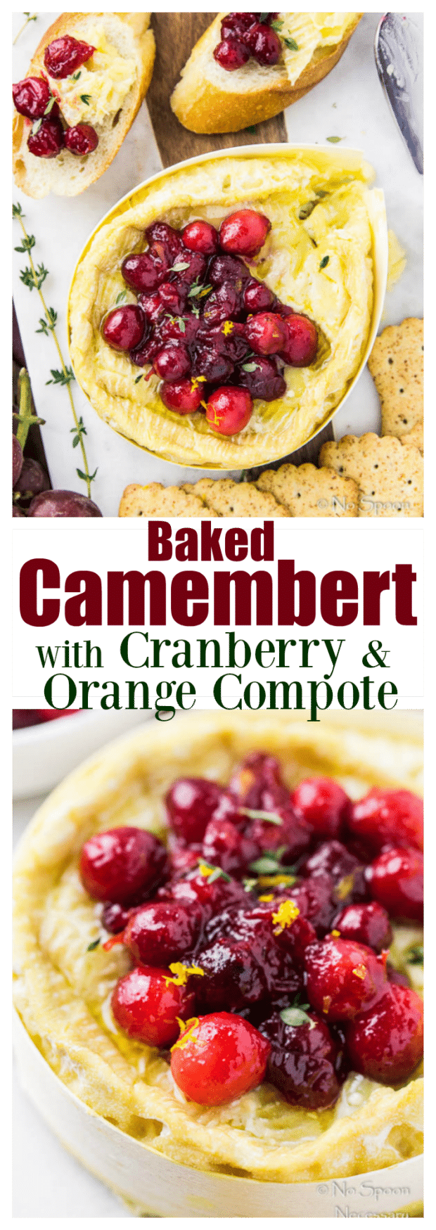 Baked Camembert with Cranberry & Orange Compote