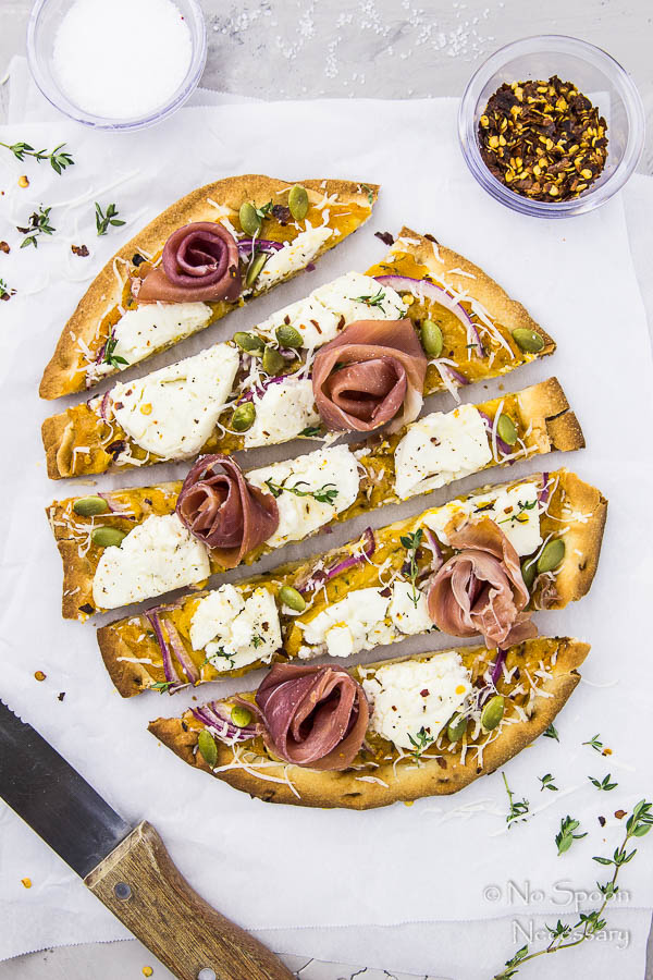 Butternut Squash Pizza with Goat Cheese, Prosciutto & Pumpkin Seeds-128