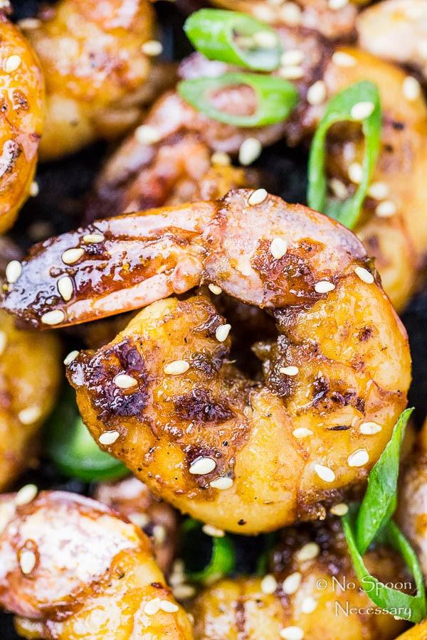 Spicy Honey Glazed Skillet Shrimp