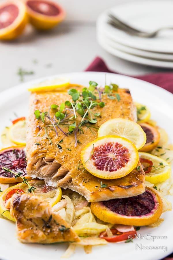 Citrus and Honey Roasted Salmon