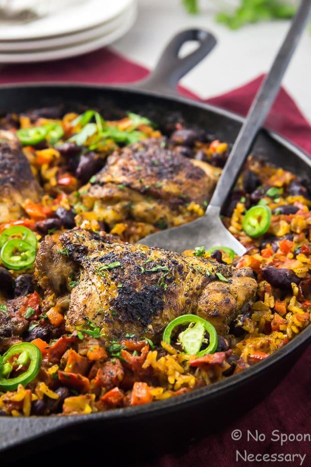 One Skillet Cajun Chicken, Red Beans & Rice