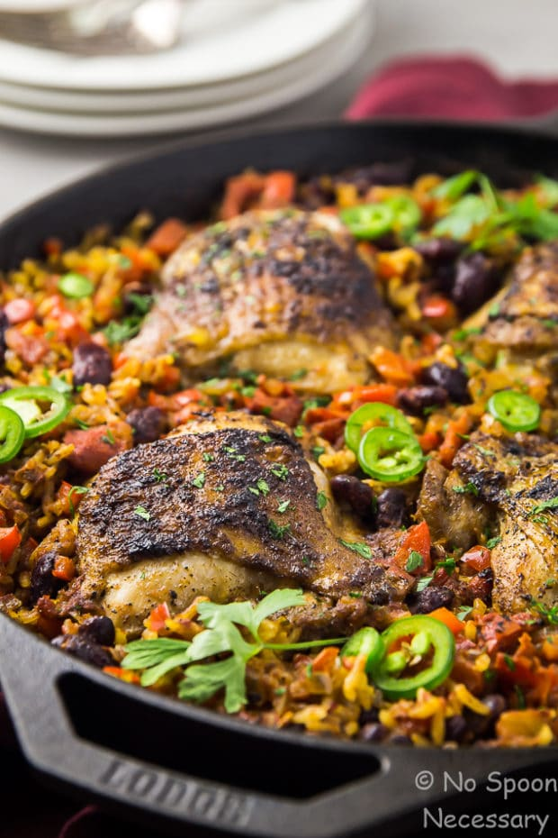 Skillet Cajun Chicken with Red Beans & Rice - No Spoon ...