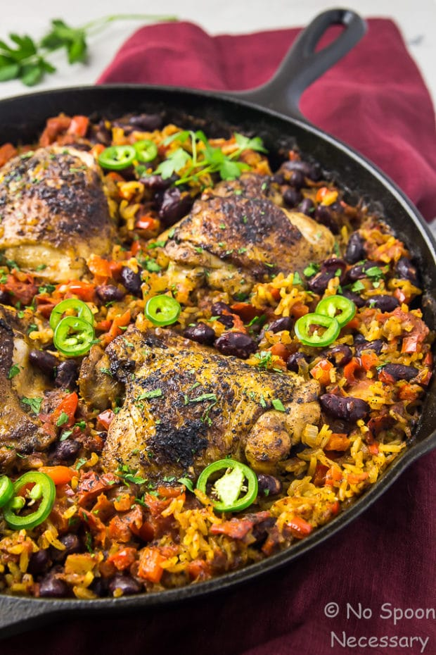 One Skillet Cajun Chicken, Red Beans & Rice
