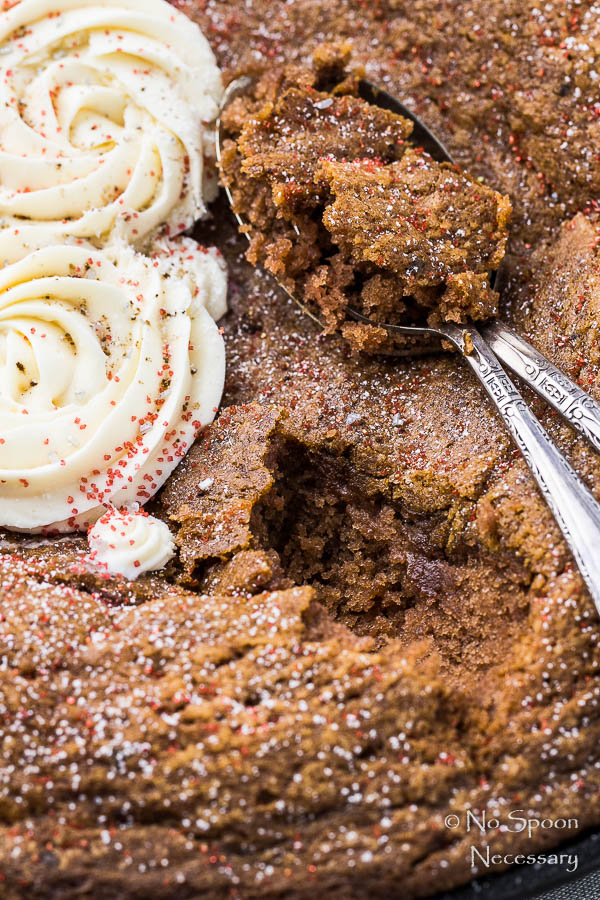 Chocolate Velvet Skillet Cake with Cream Cheese Frosting