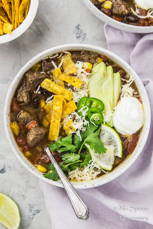 Slow Cooker Short Rib Fajita Soup