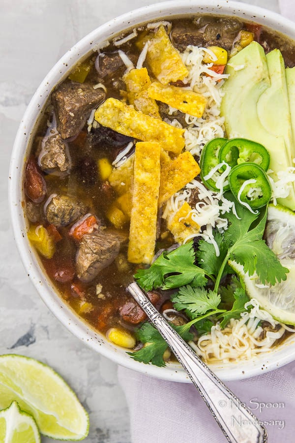 Slow Cooker Short Rib Fajita Soup