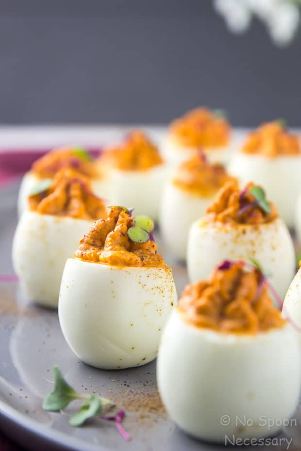 Red Goddess Deviled Eggs