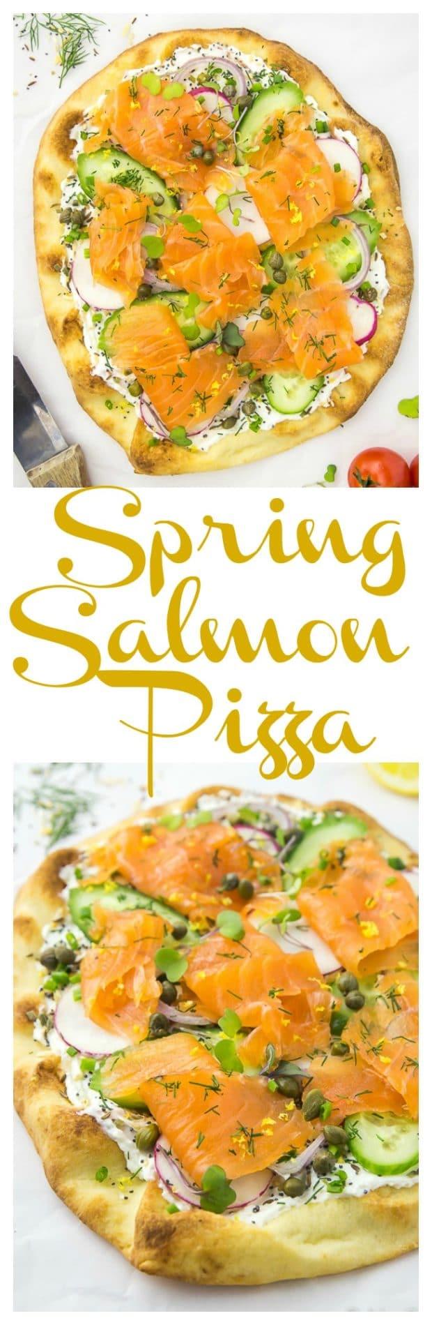 Loaded Spring Salmon Pizza