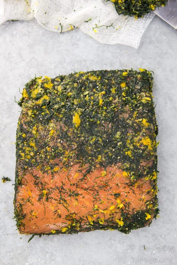How To Make Gravlax - Vodka Dill Cured Salmon