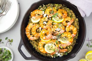 One Pan Lemon Butter Shrimp & Quinoa
