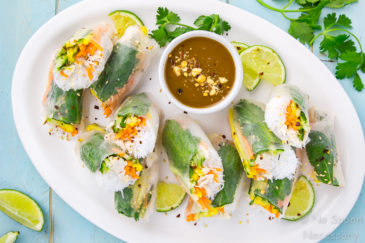 Coconut Chicken & Mango Summer Rolls