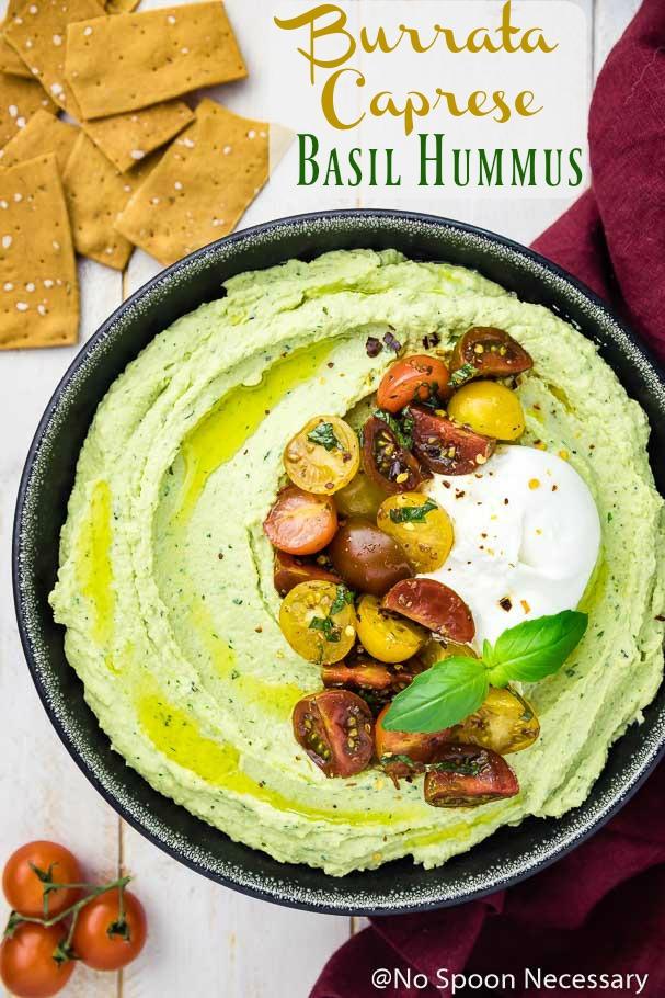 Burrata Caprese Basil Hummus
