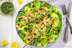Chimichurri Grilled Shrimp & Corn Salad