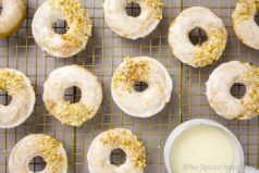 Glazed Cinnamon Apple Cider Baked Donuts