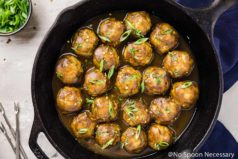 Baked Spiced Hard Apple Cider Meatballs
