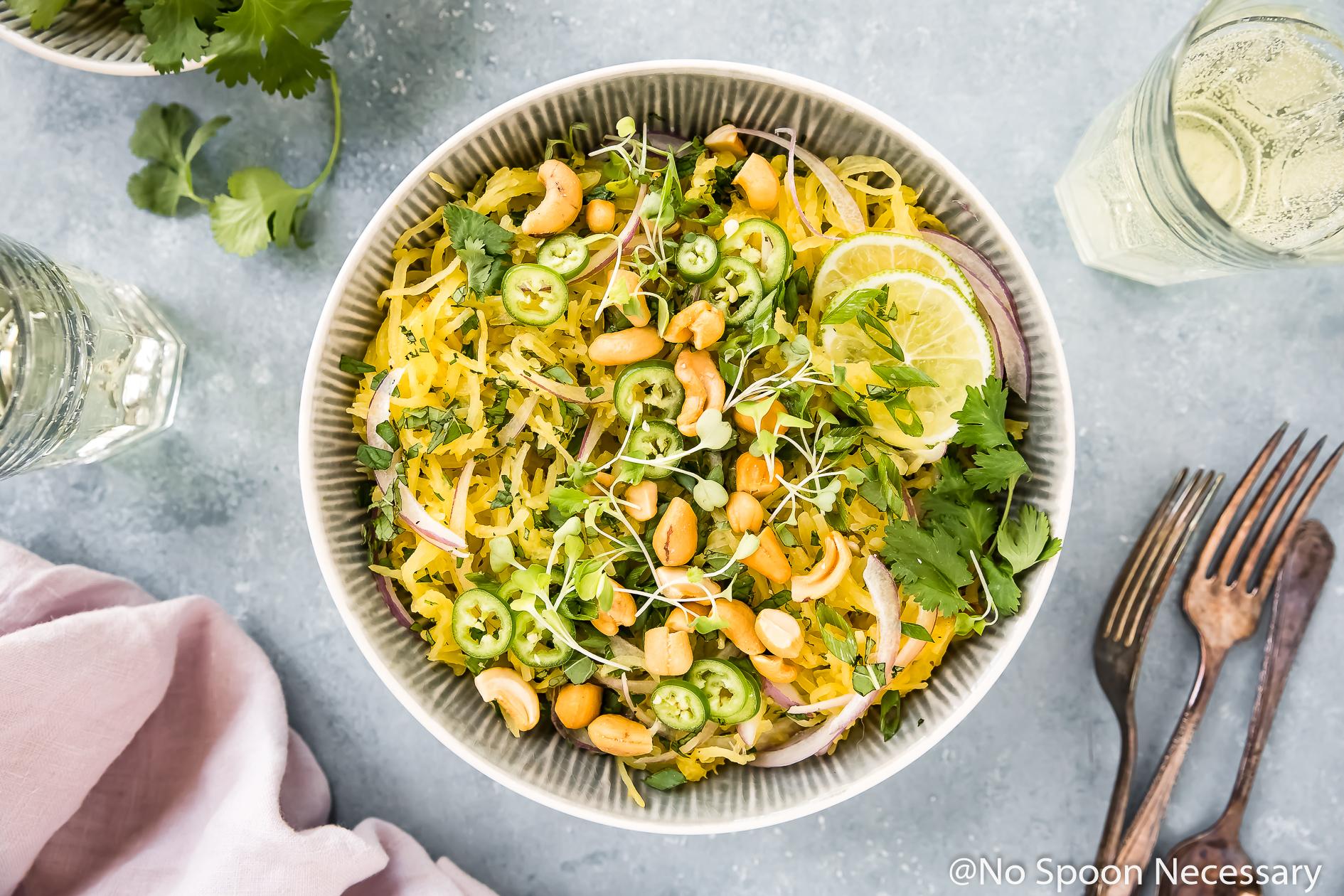 Spicy Thai Spaghetti Squash Salad