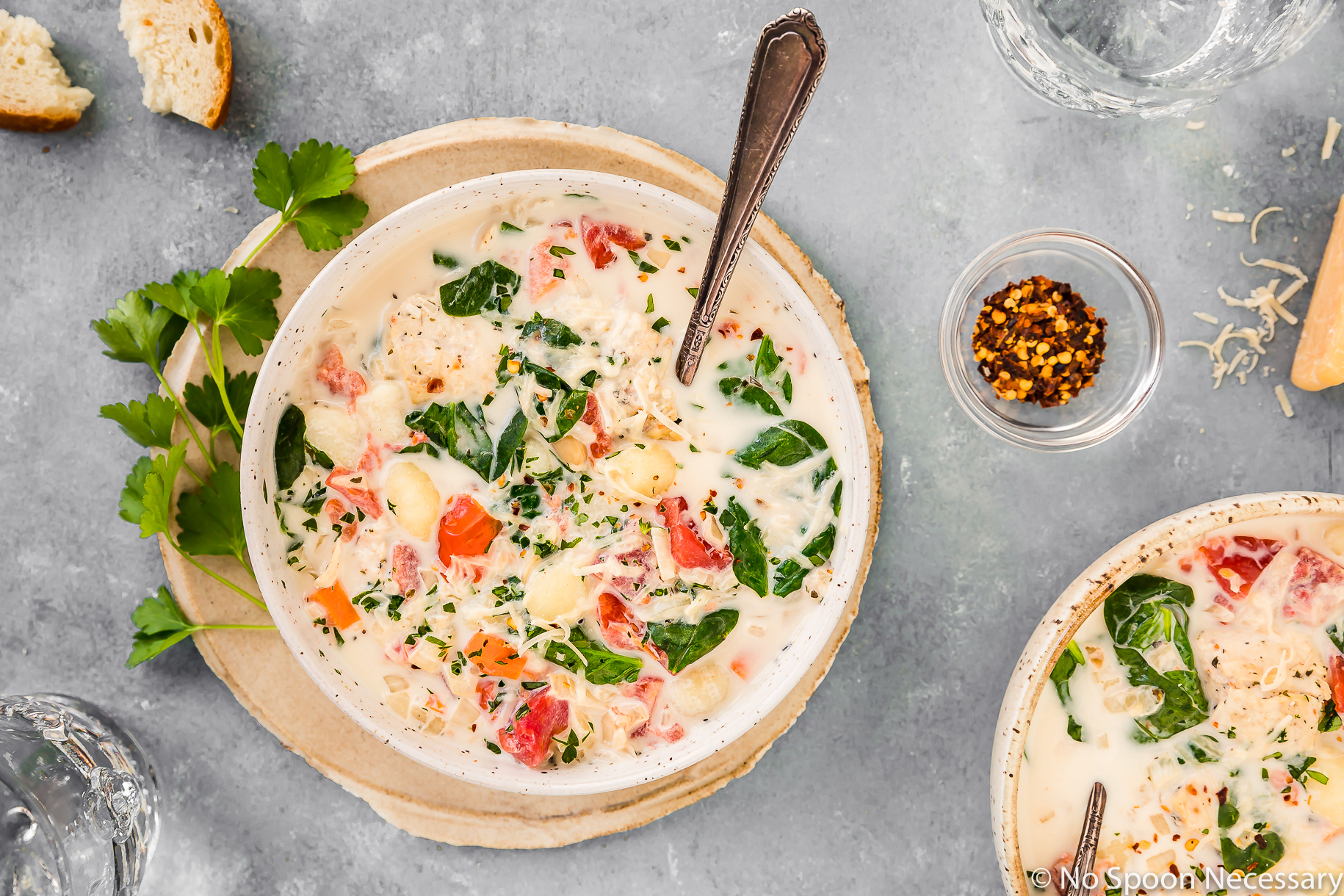 Tuscan Slow Cooker Creamy Chicken Gnocchi Soup